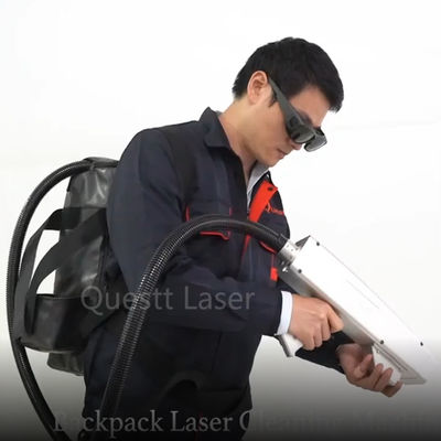 50 Watt Backpack Laser Cleaning Machine Outside Handheld Operation